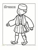 a coloring sheet for 1st graders about people from around the world this is a