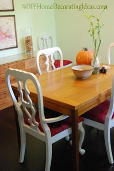 How to paint dining room chairs (spray!)