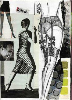 collage et dessins
