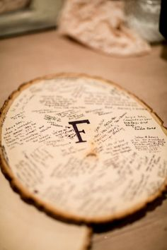 Rustic Wedding Wood Guestbook