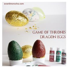 DIY Game of Thrones Dragon Eggs using water balloon and thumbtacks, check the tutorial on my blog /