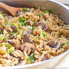 Mushroom Side Dishes, Pasta Side Dishes, Mushroom Rice, Rice Dishes, Side Dishes Easy, Main Dishes, Rice Recipes, Side Dish Recipes, Veggie Recipes