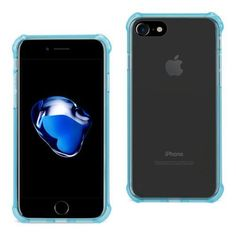 REIKO IPHONE 7 CLEAR BUMPER CASE WITH AIR CUSHION PROTECTION IN CLEAR NAVY #iphone7deals,