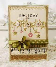 Holiday hugs card by Melissa Phillips for Papertrey Ink (September 2011).