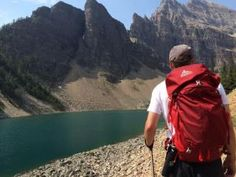 Trekking poles assist hikers and backpackers in the Canadian Rockies