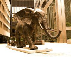 Elephant Sculpture, Toronto
