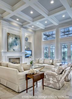 House Plan The Belcourt Sater Design Collection Luxury House Plans is part of Elegant living room - Elegant Living Room, Coastal Living Rooms, Formal Living Rooms, Living Room Interior, Home Living Room, Living Room Designs, Living Room Ceiling Ideas, Luxury Living Rooms, Modern Living