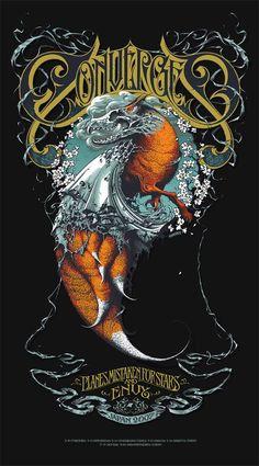 Converge Black Silkscreen Concert Poster by Aaron Horkey