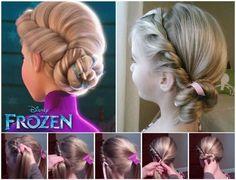 Disney frozen DIY coronation hair for 2014 Halloween cosplay - princess…