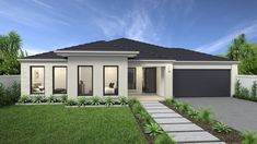 Hume 263 Home Design - House Design Hume 263 House Front Design, Yard Design, Modern House Design, Contemporary House Plans, House Paint Exterior, Exterior House Colors, Facade Design, Exterior Design, Hotondo Homes