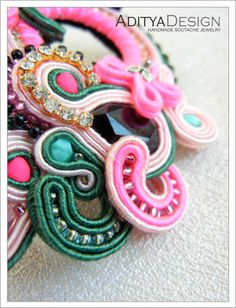 Fashion Glasses Soutache Glasses Soutache Jewelry by AdityaDesign