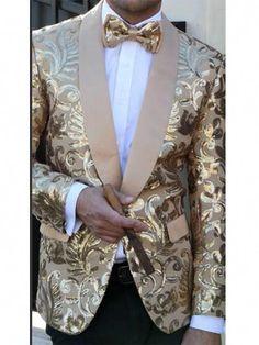 e29015ecaa7 In Fashion Mens Coats  MensFashionLaceUpBoots Key  3135166648 Gold Tuxedo  Jacket