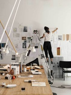 Work space ideas / art studio for editorial staff