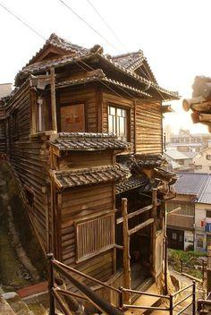 Onomichi - Leuke oude Japanse huisjes gezien.
