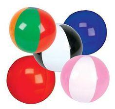 "12 STAR BEACH BALLS 16/"" Pool Party Beachball NEW #ST60 Free shipping"