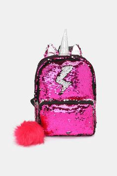 Faux leather and two-tone sequin backpack.L x W x H: x x Ardene Cute Backpacks For School, Cute Mini Backpacks, Girl Backpacks, Sequin Backpack, Backpack Bags, Justice Bags, Girls Accessories, Justice Accessories, Unicorn Fashion