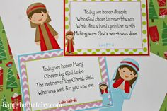 Free Printables! Love these cards, taking time each day to point us back to the real reason we celebrate this season.