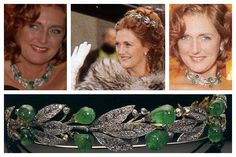 The Emerald Laurel Wreath Tiara worn by Archduchess Francesca von Habsburg (who would be the Empress of Austria-Hungary)