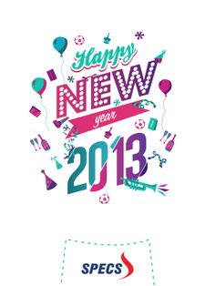 Illustration Happy New Year 2013 - SPECS Indonesia by Roy Herman, via Behance