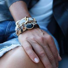 Moja po prostu. Bransoletka z szarymi kryształami - CALEIDOSCOPIO - Kate&Kate Contemporary Classic, Contemporary Design, Wedding Rings, Engagement Rings, Stylish, Gold, Accessories, Jewelry, Fashion