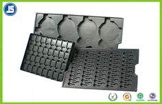 Elektronisches PS-Schwarzes Plastik-ESD Behälter 0,45 Millimeters, antistatischer Fach-Behälter