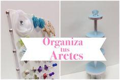 Como hacer un organizador de aretes(2 ideas)
