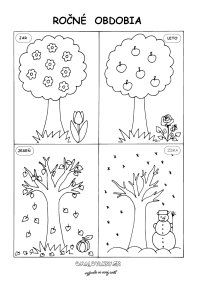 Premeny stromu počas štyroch ročných období Free Kids Coloring Pages, Coloring For Kids, Coloring Books, Teaching Weather, Preschool Weather, Seasons Activities, Preschool Activities, Weather For Kids, Grande Section