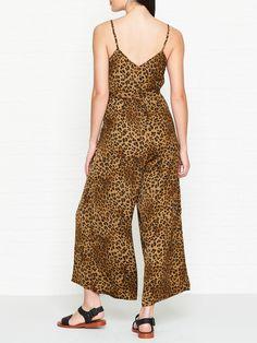 Gestuz Jane Print Jumpsuit - - Leopard - 42