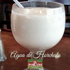 Hoy te invitamos a probar nuestra Agua de Horchata... #ElPoblano #RestauranteMexicano #horchata #aguadehorchata #mexico #comidamexicana