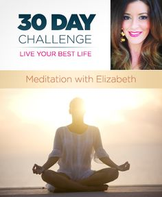 "This is a 30 day meditation challenge. Meditation is the best for the mind, body and soul. - I already try to do it every day, but this could be useful in keeping me accountable on the days I ""don't have time""."