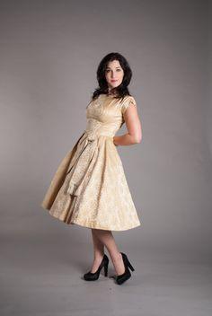 Vintage 1950s Party Dress  Classic 50s Dress  by concettascloset