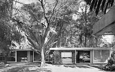 Casa estudio, Calle Josepha Prior 32, Chimalistac, México DF 1952    Arq. Francisco Artigas