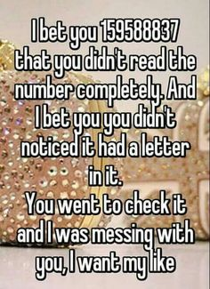 I totally just did what this says! I didn't read the whole number and and then I went and checked for a letter but there wasn't one. They fooled me! Haha!