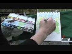 Sketchbook Hiking: McClaughrey 1 of be sure to watch the end of the video and watch sketching in watercolor watched Watercolor Video, Watercolor Sketchbook, Watercolour Tutorials, Watercolor Techniques, Art Techniques, Watercolor Art, Drawing Journal, Painting Videos, Copics
