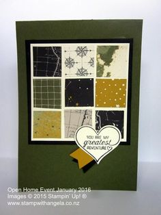 Great Paper For Masculine Cards, Stampin' Up, Going Places,   Stamp With Angela Men's Cards, Stampin Up Cards, Greeting Cards, Paper Patterns, Pattern Paper, Scrapbook Cards, Scrapbooking, Travel Cards, Masculine Cards