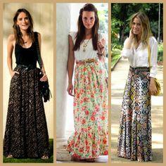 Hola Queridas! Hoy vamos hablar de la falda larga. Aquí en los Estados Unidos estamos entrando en Primavera, verano y la falda larga s...