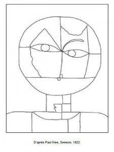 Paul Klee Senecio coloring page Picasso, Paul Klee Art, Ecole Art, Watercolor Artists, Oeuvre D'art, Oeuvres, Canvas Artwork, Art Plastique, Elementary Art