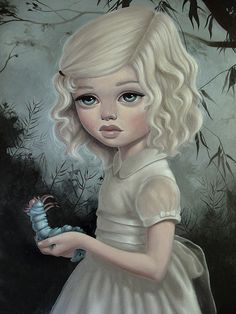 Alice by, Ana Bagayan Art And Illustration, Illustrations, Art Beat, Lewis Carroll, Fantasy Kunst, Fantasy Art, Dream Fantasy, Art Pictures, Photos
