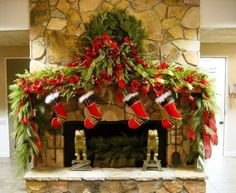 35 Beautiful ChristmasMantels - Christmas Decorating -Do this one for screened porch fp by jeannine