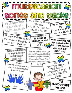 Classroom Freebies: Multiplication Trick Sheet Awesome for D Man