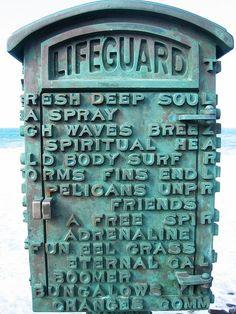 Vintage Lifeguard Box, La Jolla