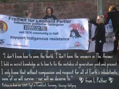 Our Leonard Peltier vigil 2009 in Frankfurt/Germany