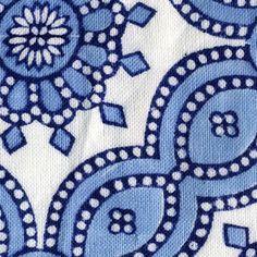 Petra Cobalt Handprinted Linens Fabric