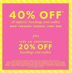 Kate Spade Outlet: 40% Off Sale!