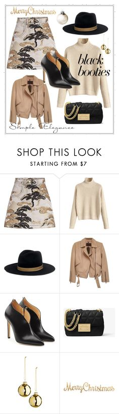 """""""Back to Basics:  Black Booties"""" by shamrockclover ❤ liked on Polyvore featuring Louis Vuitton, Janessa Leone, AllSaints, Chloe Gosselin and MICHAEL Michael Kors"""