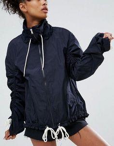 ASOS Rain Anorak with Contrast Drawstring Fashion Online, Contrast, Street Wear, Raincoat, Asos, Bomber Jacket, Stylish, Chic, Hair Styles