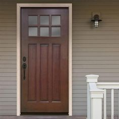 Steves & Sons Craftsman 6 Lite Stained Mahogany Wood Entry Door - M3306-2-CT-WJ-6IRH at The Home Depot