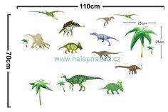 Samolepky na zeď   DĚTSKÉ MOTIVY   Dino park   www.nalepnazed.cz