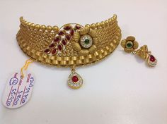 Gold Jewelry In Nepal Info: 8008260258 Beaded Jewelry Designs, Gold Jewellery Design, Gold Jewelry, Designer Jewellery, Antique Jewellery, Jewelery, Gold Chocker Necklace, Chokers, Indian Jewelry