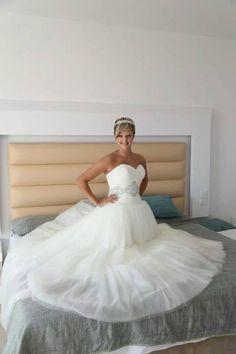 Happy elite bride